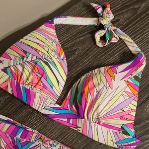 Victoria's Secret Swim - VS Neon Tropical Halter Bikini